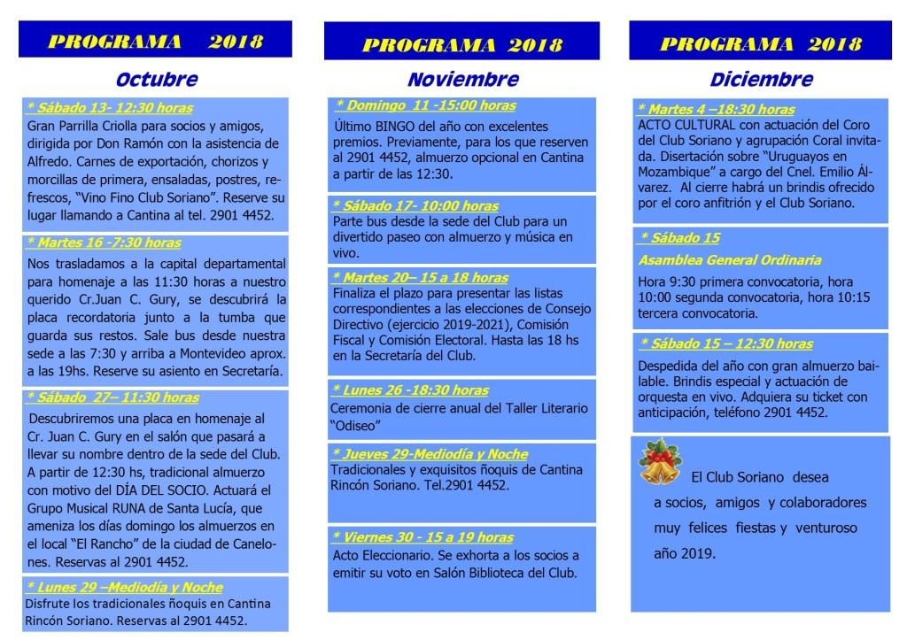 PROGRAMA -OCT-DIC-2018 - 2