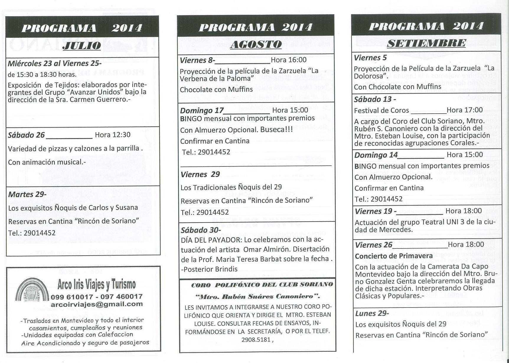 PROGRAMA JULIO2