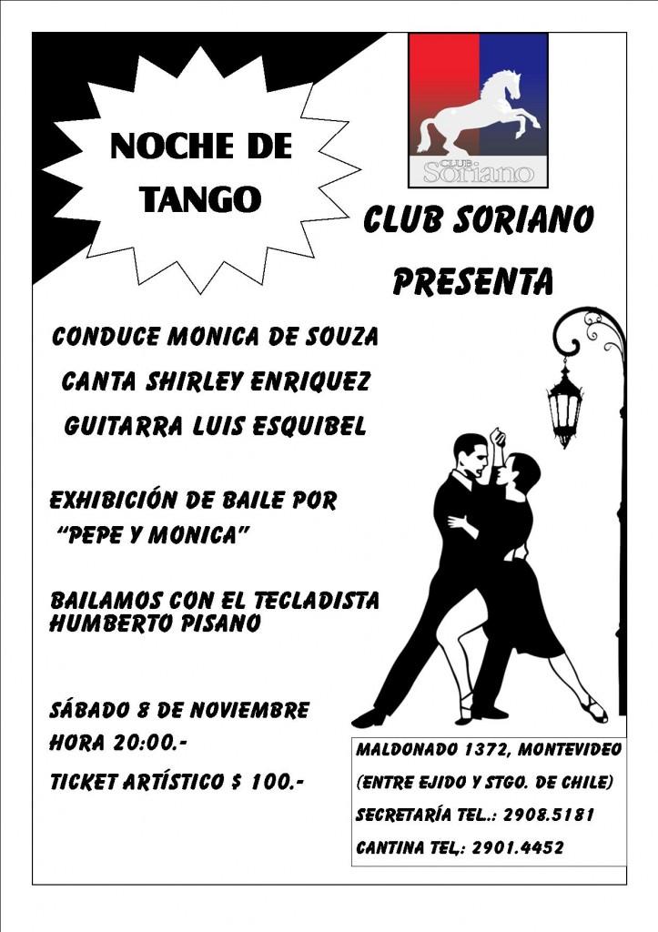 afiche para tango